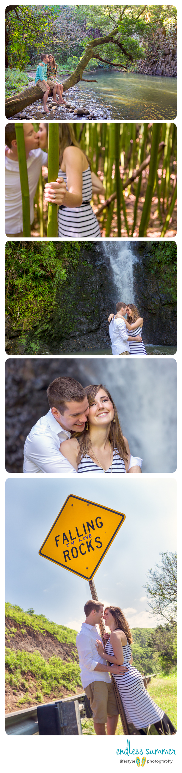 Maui Rainforest Engagement Photos