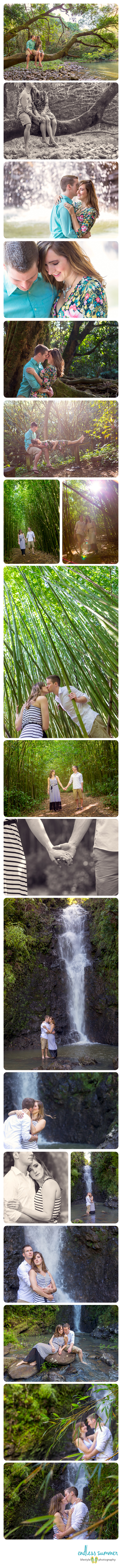Maui Rainforest Engagement Photography Session